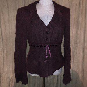 Nanette Lepore feminine eggplant purple jacket L